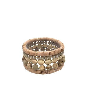 Write Your Story Bracelet Stack - Brown