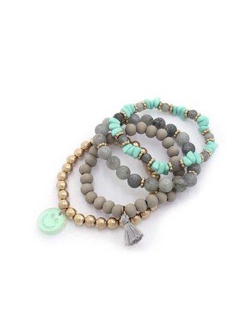 Pop Out Bracelet Stack - Mint