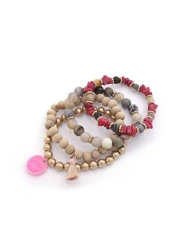 Pop Out Bracelet Stack - Pink