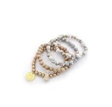 Pop Out Bracelet Stack - White