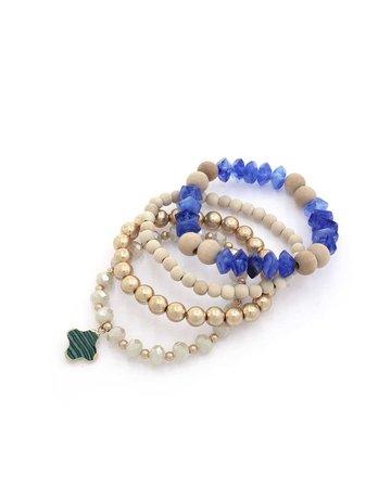 Future Times Bracelet Stack - Royal Blue