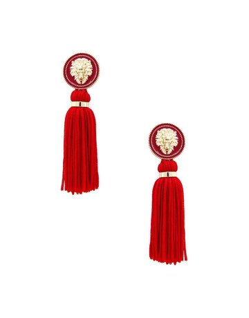 Hear Me Roar Tassel Earrings - Red