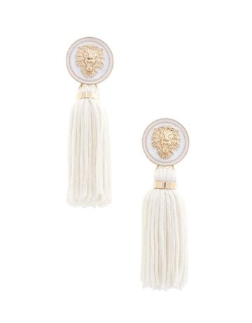 Hear Me Roar Tassel Earrings - White