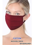 So Essential Washable Mask - Dark Burgundy