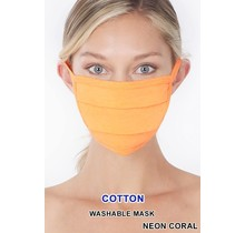 So Essential Washable Mask - Neon Coral