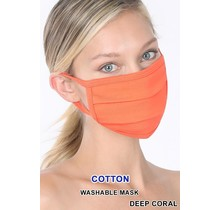 So Essential Washable Mask - Deep Coral