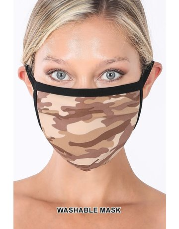 So Essential Washable Mask - Desert Camouflage