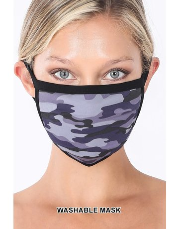 So Essential Washable Mask - Navy Camouflage