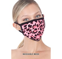 So Essential Washable Mask - Hot Pink Leopard