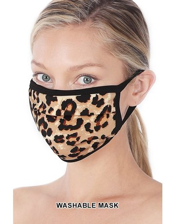 So Essential Washable Mask - Tan Brown Leopard