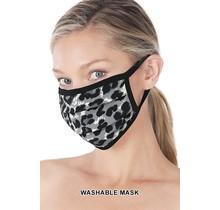 So Essential Washable Mask - Tan Grey Leopard