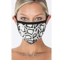 So Essential Washable Mask - Tan Black Snake Print