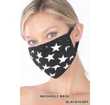 So Essential Washable Mask - Black Ivory Star Print