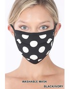 So Essential Washable Mask -  Black Ivory Polka Dot
