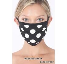 So Essential Washable Mask -  Black Ivory Polka Dot