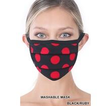 So Essential Washable Mask -  Black Ruby Polka Dot