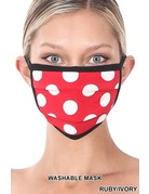 So Essential Washable Mask -  Ruby Ivory Polka Dot