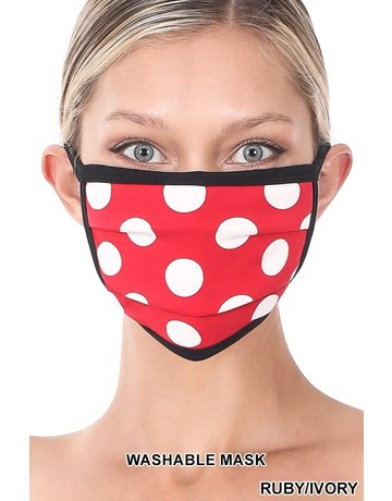 So Essential Washable Mask -  Ruby Ivory Polka Dot