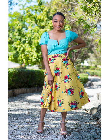 Spring Is In The Air Floral Skirt