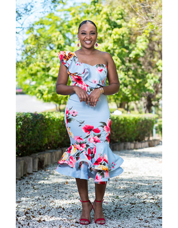 Such A Wonder Floral Ruffle Dress
