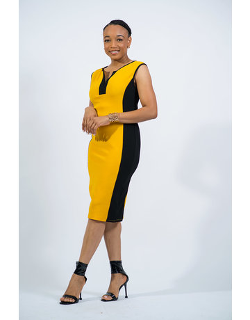 Proceed With Caution Dress - Mustard