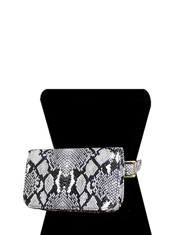 Run Wild Snake Print Bag - White