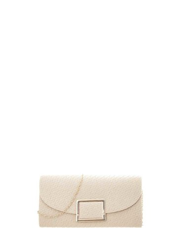 Any Occasion Straw Look Clutch - Beige