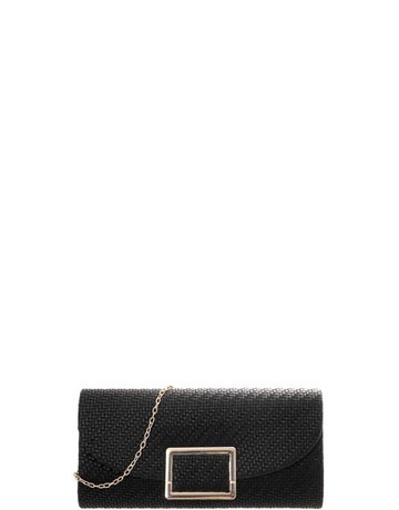 Any Occasion Straw Look Clutch - Black