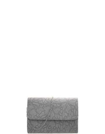 Old Timer Textured Clutch - Grey