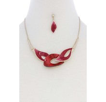 Watch & Learn Necklace Set - Red