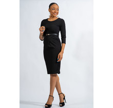 Finding My Way Belted Dress - Black
