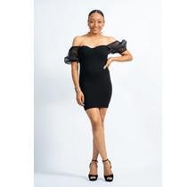 Don't Be Fooled Puff Sleeve Dress - Black