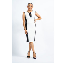 Proceed With Caution Dress - White