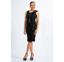 Holding On Ruffle Dress - Black