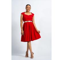 Seen Not Heard Sweetheart Dress - Red