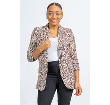 On The Prowl Cheetah Blazer - Brown