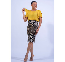 Out In The Wild Leopard Pencil Skirt
