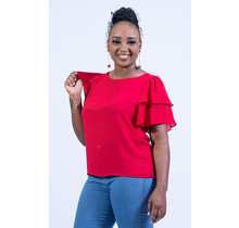 Ready To Ruffle Top - Red
