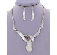 Pure N Simple Necklace Set  - Silver