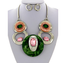 The Right Stuff Necklace Set - Green
