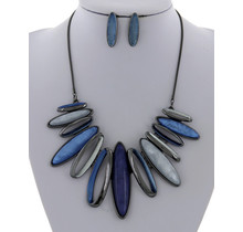 Spineless Necklace Set - Blue
