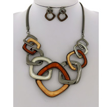 More Of It Necklace Set - Brown