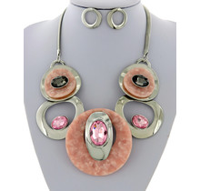 The Right Stuff Necklace Set - Pink