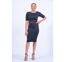 Out Of Line Belted Dress
