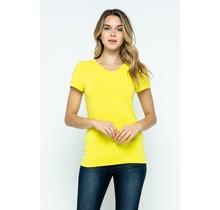 Buttercup V-Neck Knit T-Shirt PREMIUM COTTON