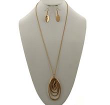 Low Down Necklace Set - Gold