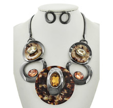 The Right Stuff Necklace Set - Brown