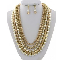 Oh Pearly Day Necklace Set - Natural