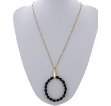 Oh Well  Necklace - Black