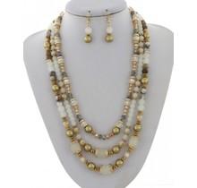PearlHarbor Necklace Set - White